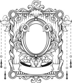 Art Deco Frame For Laser Engraving Machines Free DXF File