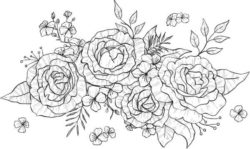 Bunches Of Roses For Print Or Laser Engraving Machines Free DXF File