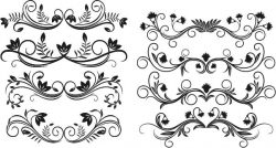 Decor Elements Set For Print Or Laser Engraving Machines Free DXF File