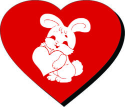 Heart And Rabbit For Laser Engraving Machines Free DXF File
