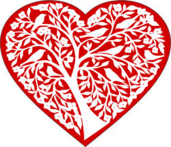 Heart And Tree For Laser Engraving Machines Free DXF File