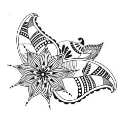Hope Flowers For Print Or Laser Engraving Machines Free DXF File