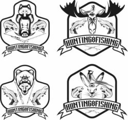 Hunting Symbols For Print Or Laser Engraving Machines Free DXF File
