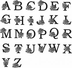 Latin Alphabet Murals For Laser Cut Plasma Free DXF File