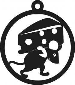 Pieces Of Cheese On The Back Of The Mouse For Laser Cut Free DXF File