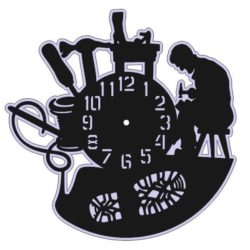Shoemaker Wall Clock For Laser Cut Free DXF File