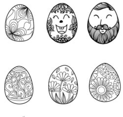 Face Decorated With Easter Eggs Download For Laser Engraving Machines Free CDR Vectors Art