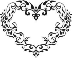 Flower Heart Download For Laser Cut Free CDR Vectors Art