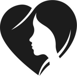 Heart With Girl Download For Laser Cut Free CDR Vectors Art