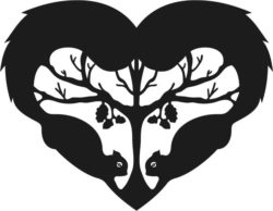 Heart With Two Squirrels Download For Laser Cut Free CDR Vectors Art