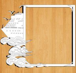 Ship Frame Download For Laser Cut Free CDR Vectors Art