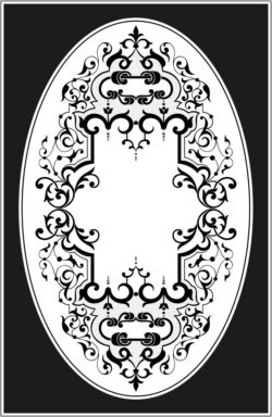 Square And Oval Frames Download For Laser Engraving Machines Free CDR Vectors Art