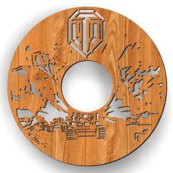 Tank Wall Clock Download For Laser Cut Free CDR Vectors Art