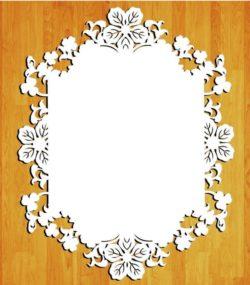 Wedding Floral Frame Download For Laser Cut Free CDR Vectors Art