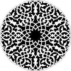 Arabic Circle For Laser Cut Free CDR Vectors Art