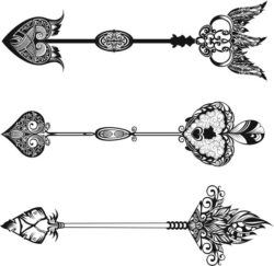 Decorative Arrows For Laser Engraving Machines Free CDR Vectors Art