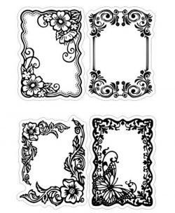Floral Frame For Print Or Laser Engraving Machines Free CDR Vectors Art
