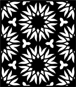 Flower Decorated Rectangles For Laser Cut Free CDR Vectors Art