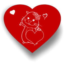 Heart And Mouse For Laser Engraving Machines Free CDR Vectors Art