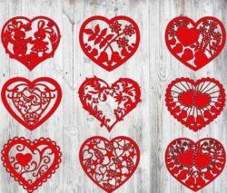 Heart Cover For Laser Cut Free CDR Vectors Art