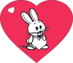 Heart With Rabbit For Laser Engraving Machines Free CDR Vectors Art