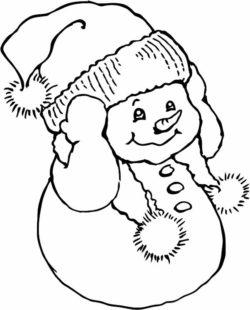 Snowman Boy For Laser Cut Plasma Free CDR Vectors Art