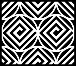 Square Decoration For Laser Engraving Machines Free CDR Vectors Art