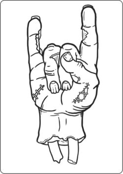 Zombie Hand For Laser Engraving Machines Free CDR Vectors Art