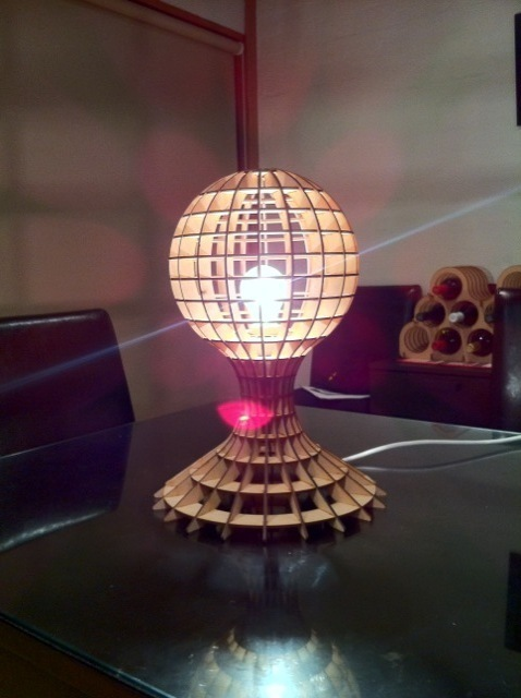3d Puzzle Lamp Free DXF File