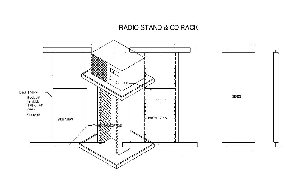 Cd Rack Free DXF File