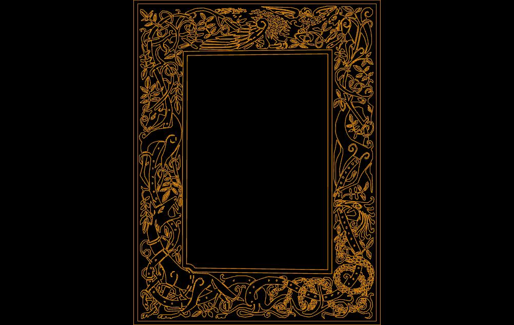 Celtic Clip Art Frame Free DXF File