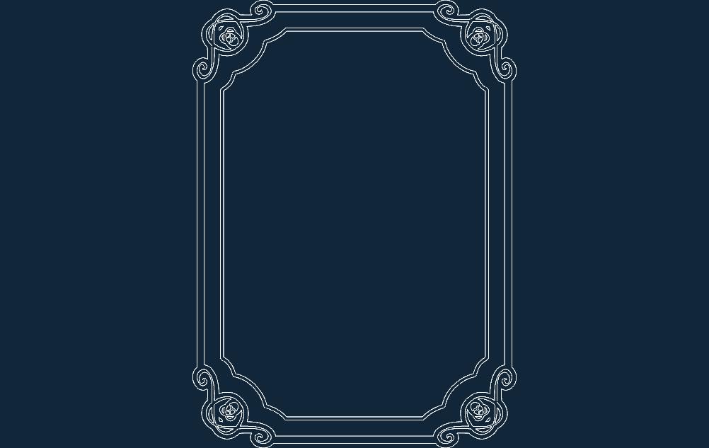 Cool Border Free DXF File