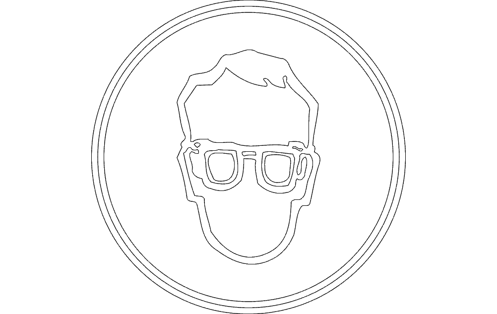 Eye Protection Sign Free DXF File