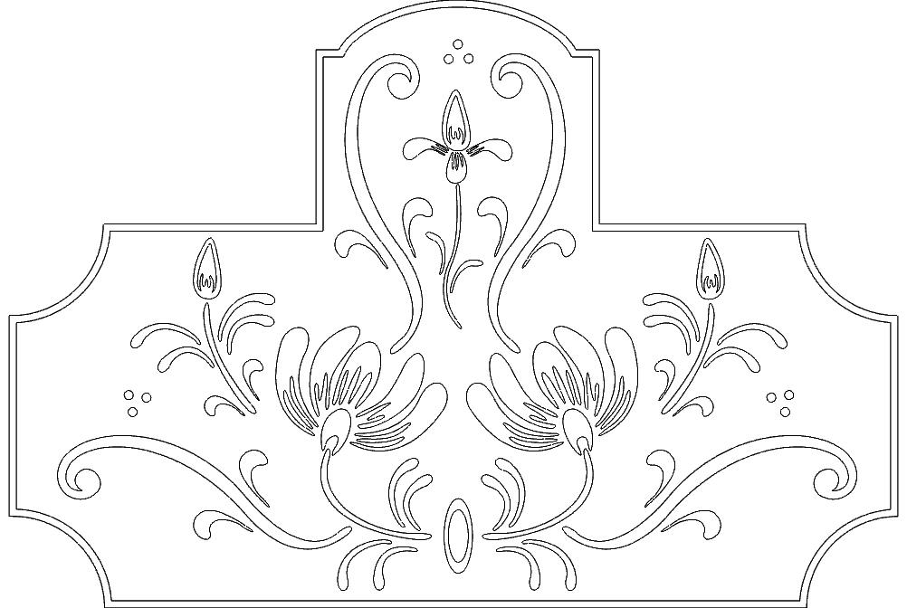 Floral Design Free DXF File