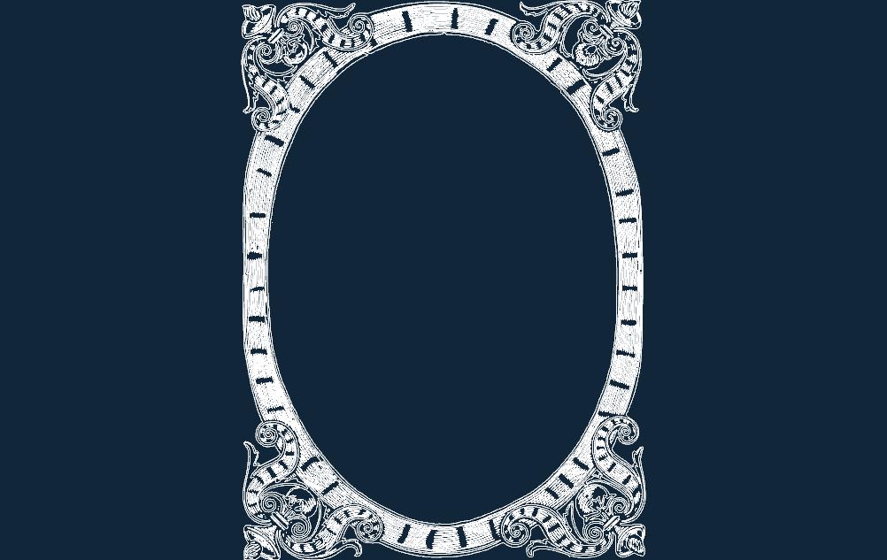 Frame Fancy Free DXF File