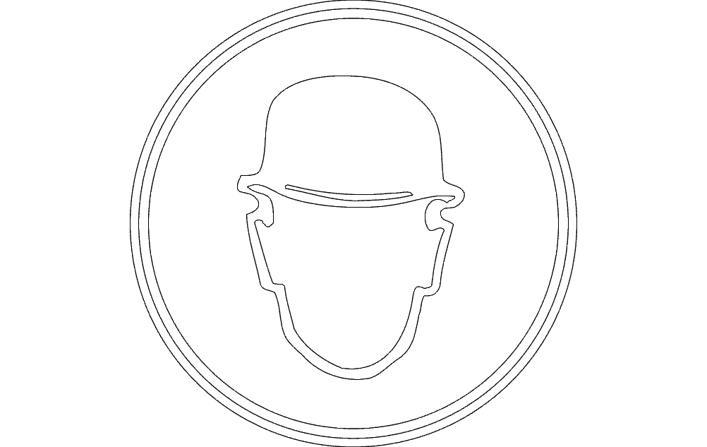Safety Helmet Free DXF File