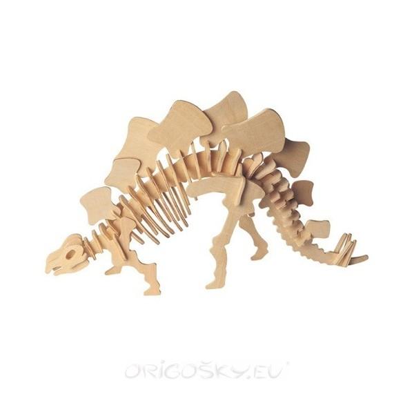 Stegosaurus 3d Puzzle Free DXF File