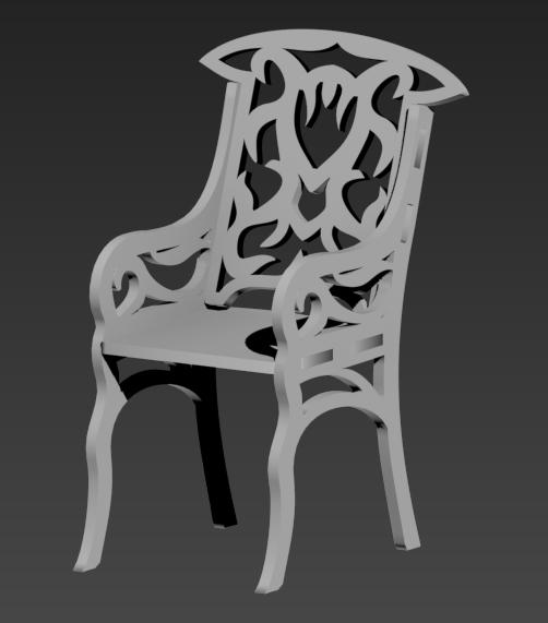 Stul Chair Free DXF File