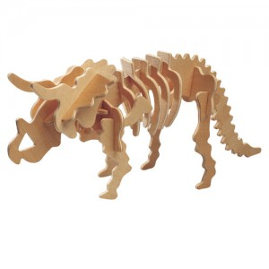 Triceratops 3d Puzzle Free DXF File