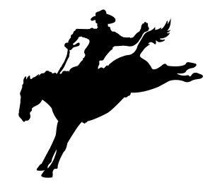 Cowboy Running Silhouette Free DXF File