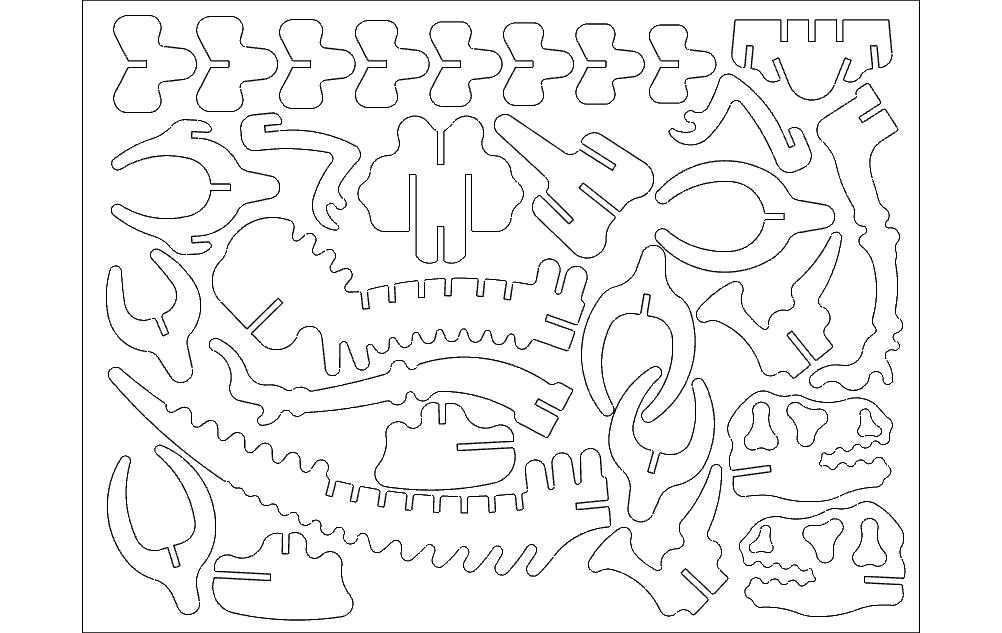 Dinota 3d Puzzle Free DXF File
