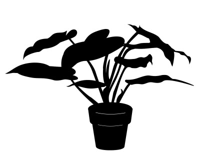 House Plant Silhouette Free DXF File