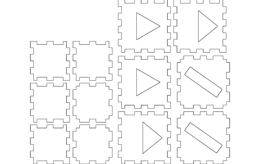 Laser Cube 2 Layer Basic Free DXF File