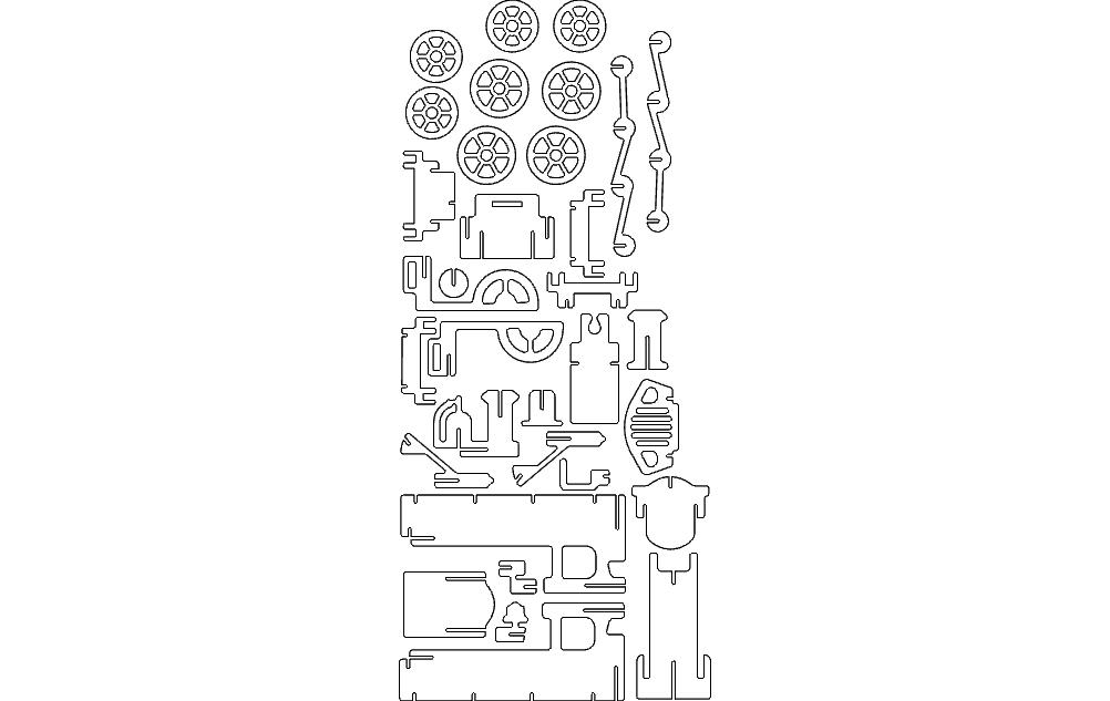 Lokomotiv 1.5mm 3d Puzzle Free DXF File