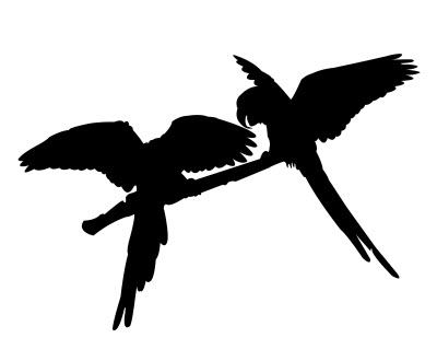 Parrot Pair Silhouette Free DXF File