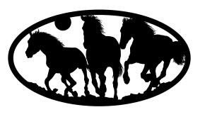 Three Horses Oval Free DXF File