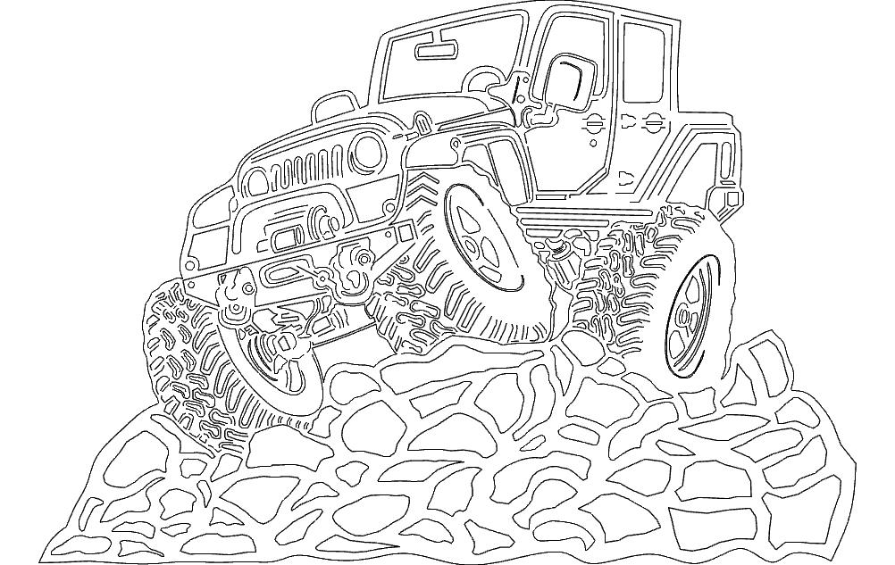 4 Door Jeep Free DXF File