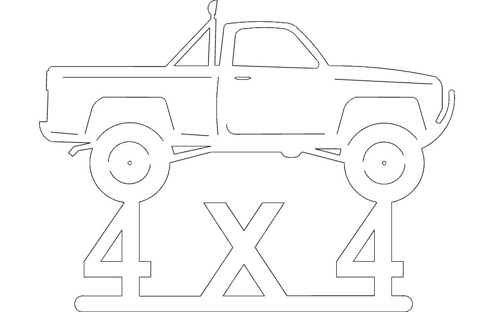 4x4p Up Free DXF File