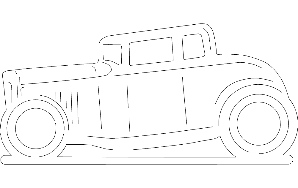 5 Window Coupe Free DXF File
