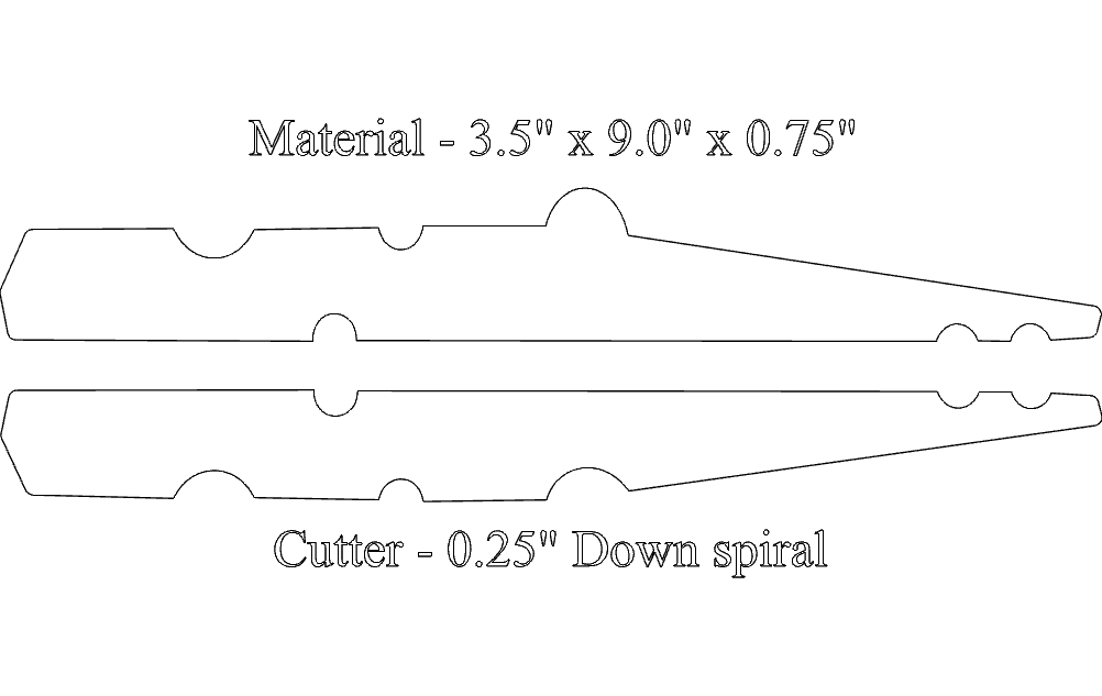 8 Inch Clothes Pin Free DXF File